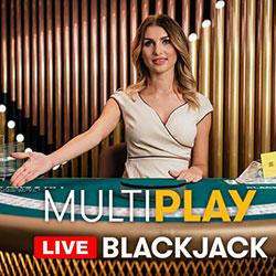 Le jeu en live MultiPlay Blackjack d